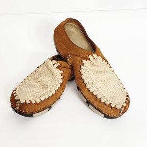 Nike Woven Mule Clog Size 6 Tan Brown